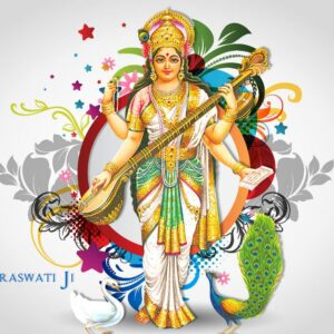 Goddess of knowledge and education Maa Saraswati Wallpaper